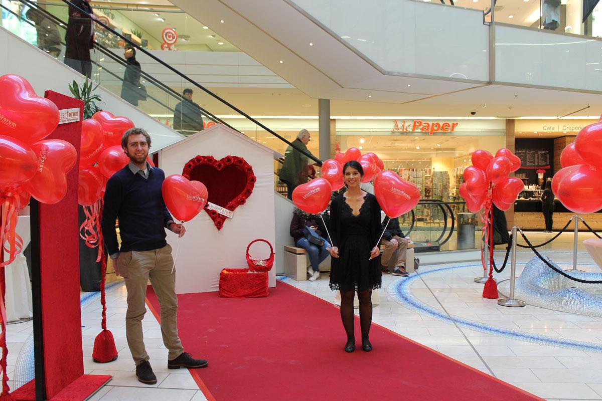 Aktion zum valentinstag