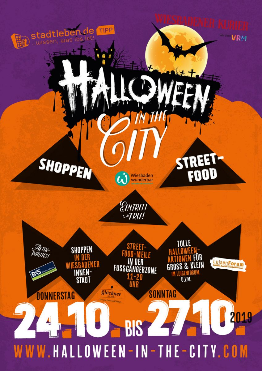 Halloween in the City 2019 | 24.-27.10.2019 in Wiesbaden